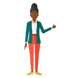 Woman showing thumbs up vector