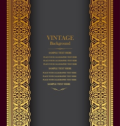 Book cover royal vector image vector image