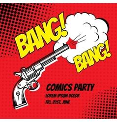 Comic strip vector image