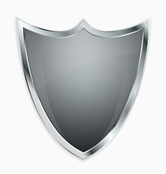 Empty shield vector image