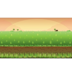 Meadow field background vector image vector image