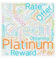 Platinum Credit Cards Are What You Want To Have vector image vector image