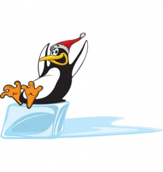sliding penguin vector image vector image