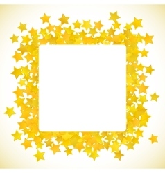 Abstract yellow star background vector image