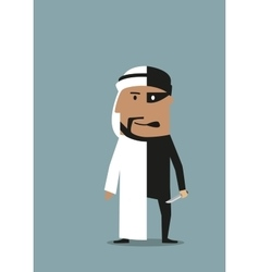 Businessman and robber are in one arab man vector image vector image