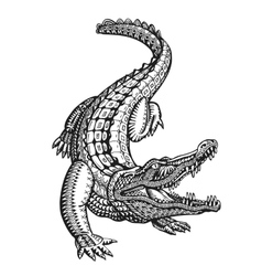 Crocodile alligator or animal painted tribal vector