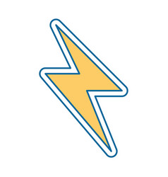 energy ray isolated icon vector image vector image