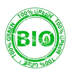 Grunge green stamp vector image vector image