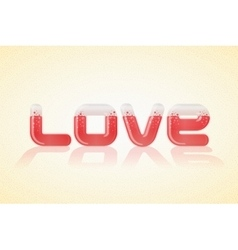 Love poster over nice background vector image