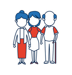 people family member together character image vector image