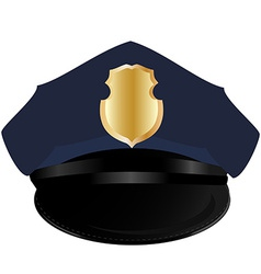 Police hat vector image vector image