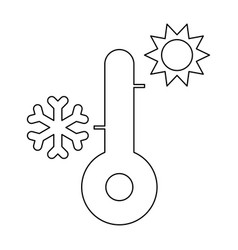 thermometer the black color icon vector image