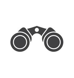binoculars icon vector image vector image