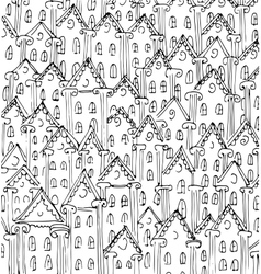 houses sketch art design vector image vector image