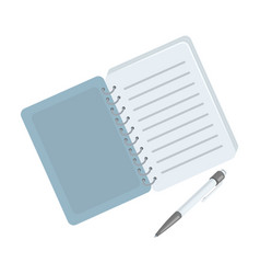 paper notebook detective notepad to record vector image