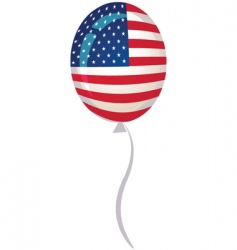 usa flag balloon vector image vector image