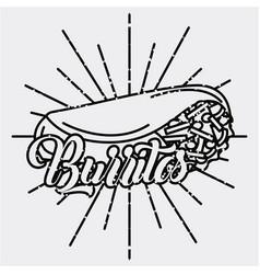 Burritos mexican food traditional delicious retro vector