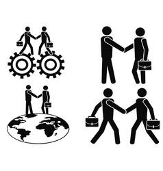 businessman deals set vector image vector image
