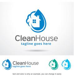 Clean house logo template vector