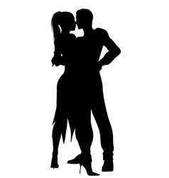 dancers silhouette vector image vector image