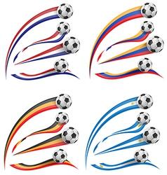 flag set whit soccer ball vector image