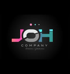 joh j o h three letter logo icon design vector image vector image