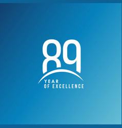 89 year excellence template design vector