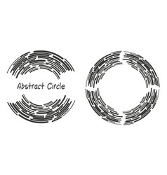 Abstract background logo circles with lines vector