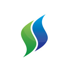 abstract swirl business logo image vector image