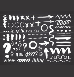 arrows dividers and borders elements hand drawn vector image