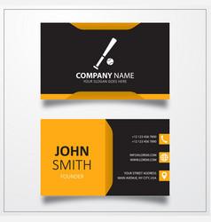 Baseball icon business card template vector
