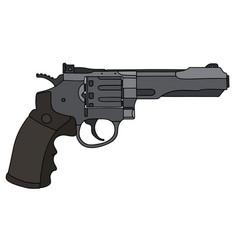 Big heavy revolver vector