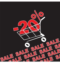 Big sale 20 percentage discount vector