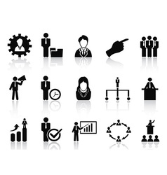 business and management icons set vector image