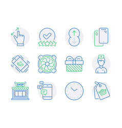 business icons set included icon as shop vector image