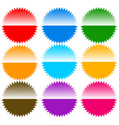 Button badge pin tag label shapes elements vector