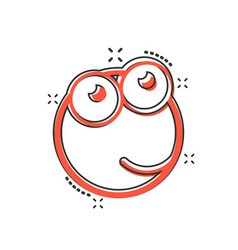cartoon face icon in comic style smiley face vector image
