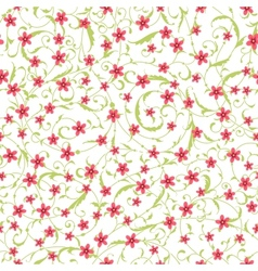 Classic seamless flower texture vector image