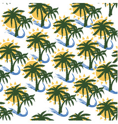 coconut tree print for textile design vector image