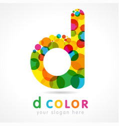 colored d logo concept vector image