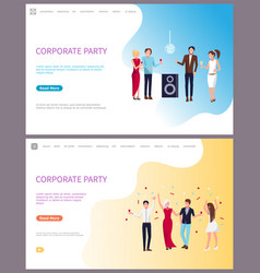 Corporate party businessmen and businesswomen vector
