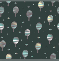 cute trees seamless pattern forest background vector image
