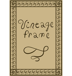 Decorative vintage frame Greeting Card or Poster vector