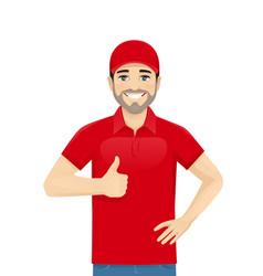 delvery man vector image