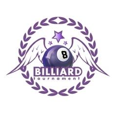 Design Billiards pool and snooker sport vector