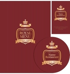 Design elements for cafe or restaurant vector