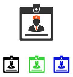 Doctor badge flat icon vector