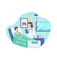 doctor check patient health condition vector image