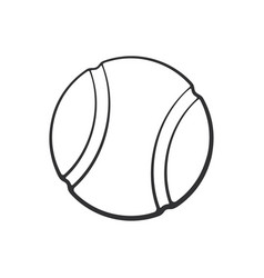 doodle tennis ball vector image