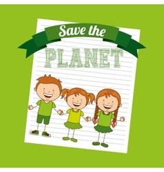 ecological kids vector image